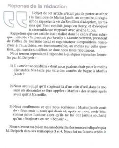 Berry Magazine, n°86, courrier des lecteurs, réponse de la rédaction