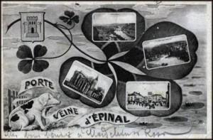 Carte postale d\'Epinal vers 1900