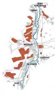 carte du vignoble de Reuilly