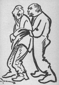 bagnards homexuels, dessin de Georges Jauneau, 1928