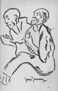 bagnards homosexuels, dessin de Georges Jauneau 1928