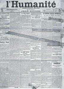 L\'Humanité Une du 18 avril 1904