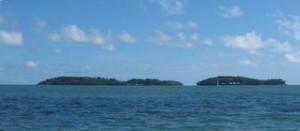 Vue des îles du Salut