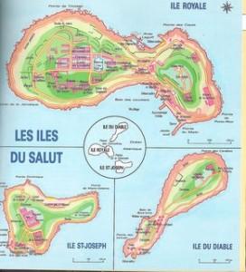 catre des îles du Salut