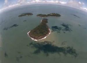 vue aérienne des îles du Salut