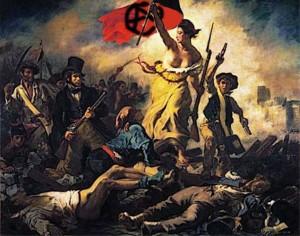 L\'Anarchie guidant le peuple