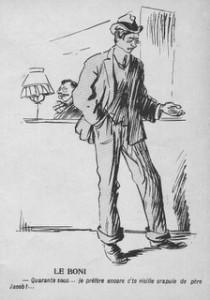 le boni, caricature de Ricardo Florès dans l\'Assiette au Beurre, 1905