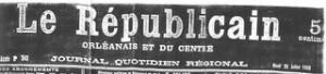 le Républicain Orléanais 25 juillet 1905