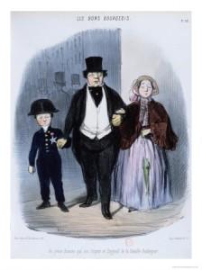 Les bons bourgeois par Daumier