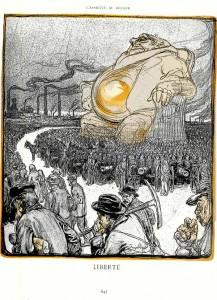 Liberté dans L\'Assiette au Beurre, Kupka, 11 janvier 1902