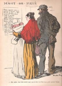 caricature des Monts de Piété par Ricardo Florès dans l\'Assiette au Beurre, 1905