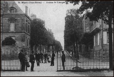 Niort, l\'avenue de Limoges où se trouve la demeure de Mme Clémot