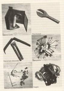 Des outils de cambrioleurs (musée de la police, Paris)