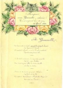 Arthur Roques, poème pour les 10 ans d\'Yvonne, 1910