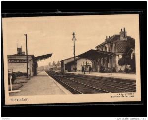 gare de Pont Rémy, les quais