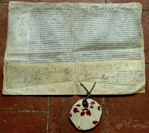 titre de noblesse de la vicomté de Monhoudou 1669