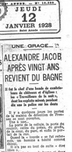 Une du Quotidien 12 janvier 1928