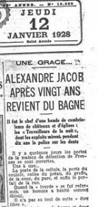 Une du Quotidien 12 janvier 1928