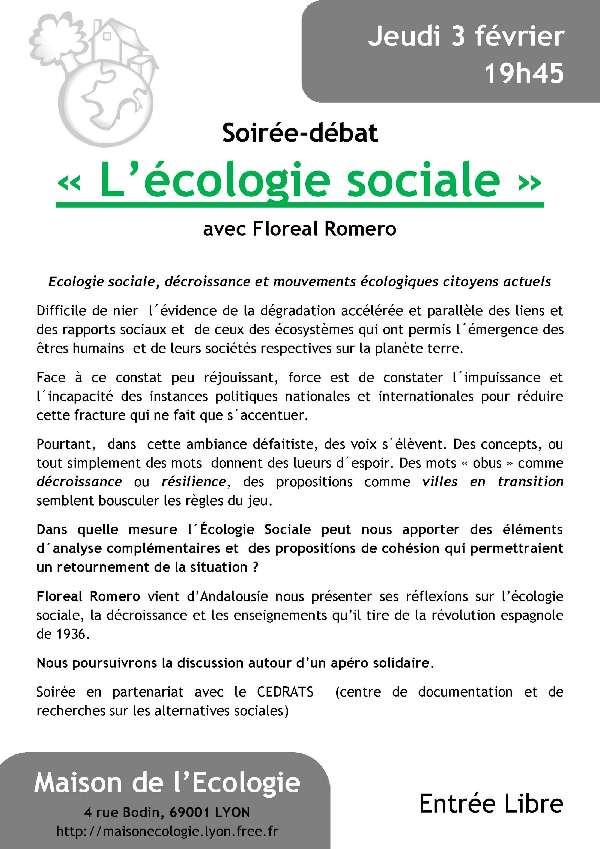 De ma croix rousse alternative 2011 janvier - Maison de l ecologie ...