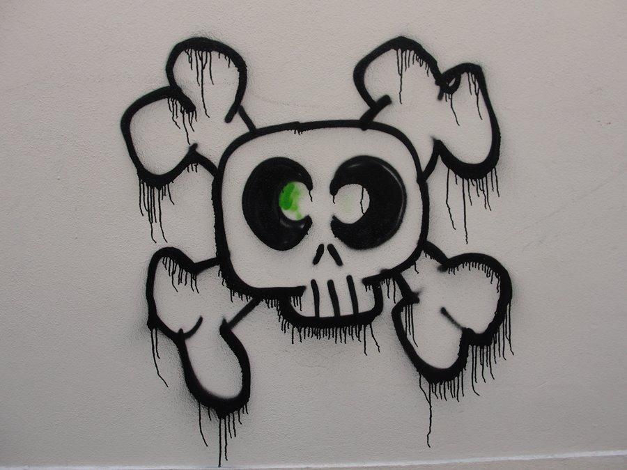 De ma croix rousse alternative graffitis de mai 2015 - Tete de mort facile a dessiner ...